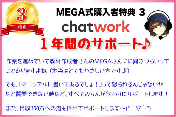 【MEGA式アフィリエイト購入特典3】あなたに最適なサポートをします!